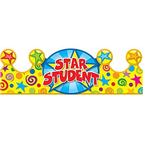 Carson Dellosa Education Star Student Crowns (101020), Multicolor, 4