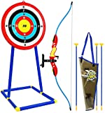 Kiddie Play Bow and Arrow for Kids Toy Archery Set with Target and Quiver Kids Toys Age 8+ Boys and Girls