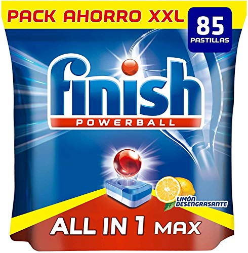 Finish Powerball All in 1 Max - Pastillas para el lavavajillas todo en 1 - limón - formato 85 unidades