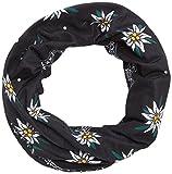 Pañuelo Had Head Accessoires Original, Edelweiss Black OM (Flor de Las Nieves, Negro), Talla única, HA110-0273