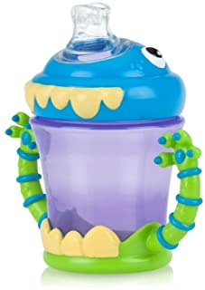 Nuby Two-Handle iMonster No-Spill Super Spout Cup, 7 Ounce