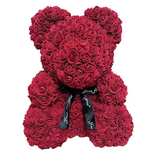 LuMon Rosa Artificial Oso de Peluche, 25cm Espuma Rosa Oso Romántico