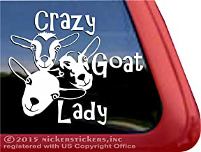 NickerStickers Crazy Goat Lady Vinyl Window Decal Sticker