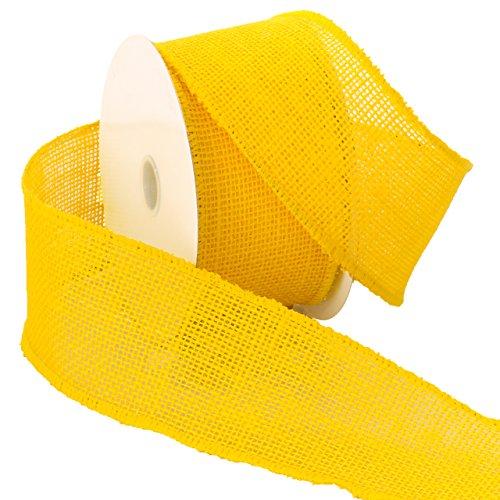Morex Ribbon Burlap Wired Ribbon, 2.5