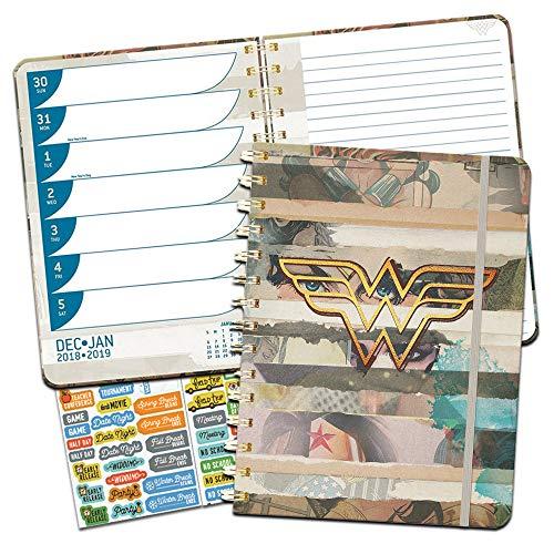 Wonder Woman Weekly Planner 2019 Set -- Deluxe Wonder Woman 2019 Weekly Monthly Planner with DateWorks Calendar Stickers (Spiral Bound, Hardcover; Wonder Woman Office Supplies)