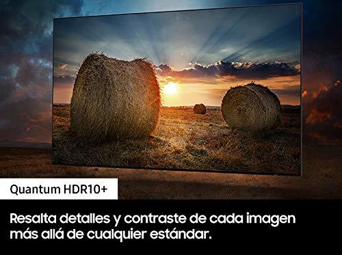 """Samsung QLED 4K 2021 55Q80A - Smart TV de 55"""" con Resolución 4K UHD, Procesador QLED 4K con Inteligencia Artificial, Quantum HDR10+, Direct Full Array, Motion Xcelerator Turbo+, OTS y Alexa Integrada"""
