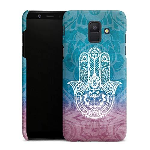 DeinDesign Premium Hülle kompatibel mit Samsung Galaxy A6 (2018) Smartphone Handyhülle Hülle matt Ethno Mandala Ornamente