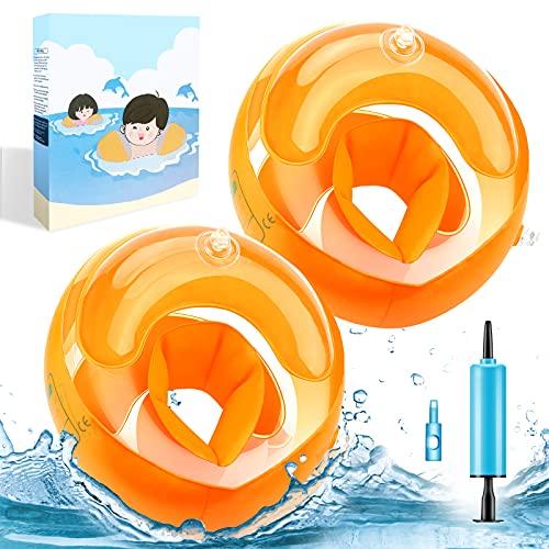 ATUIO - Ali d'acqua per Bambini, Aiuto per il Nuoto, Anello per il Nuoto per 3-14 Anni Ragazzi Ragazze Neonati, Circonferenza del Braccio Degli Anelli per il Nuoto 26-29 cm, Peso Consigliato 38-80 kg