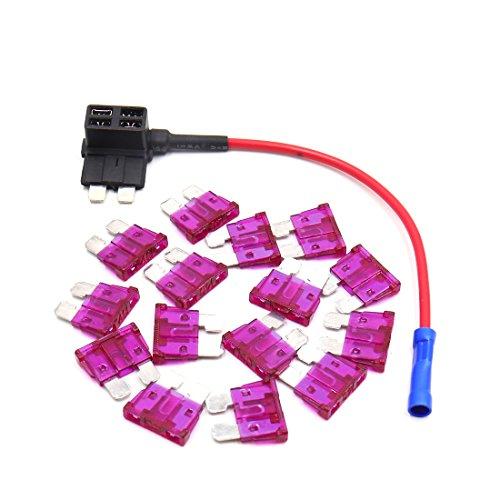 sourcing map Adaptateur de Voiture pour Standard 40A ATC ATO Porte-fusible Style Lame Standard