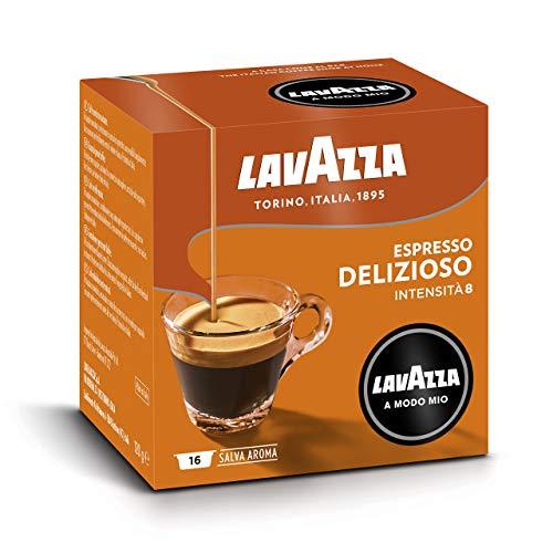 Lavazza A Modo Mio Capsule Caffè Espresso Delizioso - Confezione da 256 Capsule, 16 Unità (Confezione da 16)