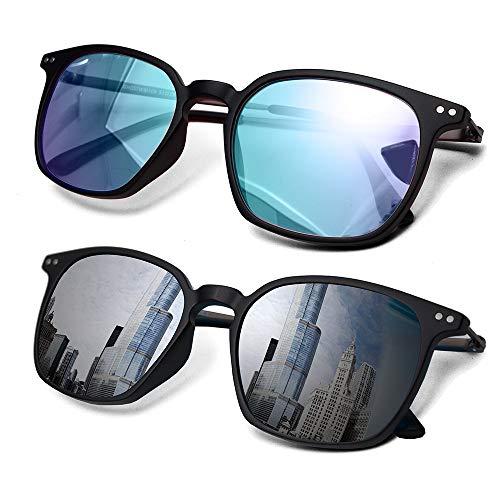 2 Pack Color Blindness Glasses for Men/Color Blind Corrective Glasses