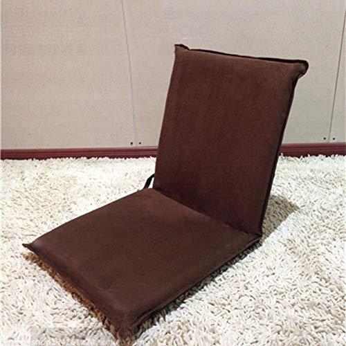 YLCJ Wildleder Tatami Boden Stuhl, Zaisu Mobile Window Small Klappstuhl Bett Ohne Bein Klappstuhl Japanische Meditation Boden-Braun