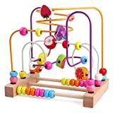 Lewo Bead Maze Wooden Baby Toddler Toys Roller Coaster Abacus Preschool Educational Toys Birthday Gifts for Toddlers Kids Boys Girls