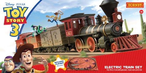 Hornby - TR1149 - Circuit - Train - Train électrique Toy Story avec trois wagons et tapis de jeu