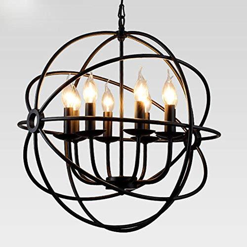 Creatieve persoonlijkheid retro hanglamp industrie eetkamerlamp woonkamer bar cafe bal rond ijzer accogliente kandelaar hanglamp elegante hanglamp eenvoudige hanglamp