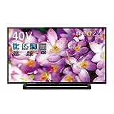 東芝 40V型 液晶テレビ レグザ 40S22 フルハイビジョン 外付けHDD ウラ録対応 (2019年モデル)