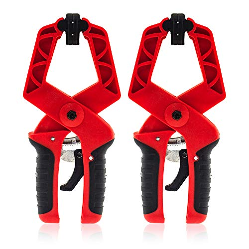 XFORT® Juego de abrazaderas de carraca de 2x175 mm (7'), abrazaderas G de agarre rápido para trabajar la madera, herramientas manuales de mesa de agarre rápido, abrazaderas para bancos de trabajo