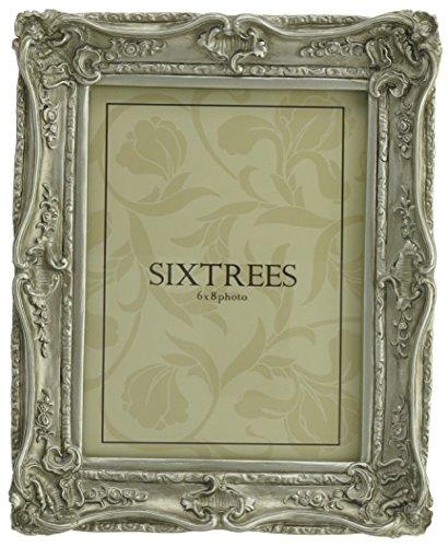 Cornici per foto shabby chic 150x100mm e 250x200mm - Chelsea, da Sixtrees - Argento, 20 x 15cm