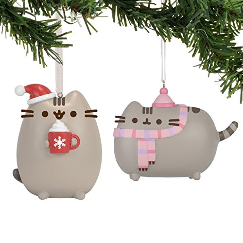 Department 56 Pusheen Holiday Hanging Ornaments Set