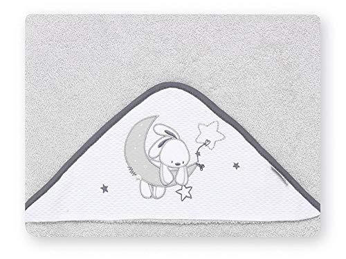 Pirulos 00713120 - Maxicapa, diseo luna, 100 x 100 cm, color blanco y gris