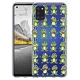 KX-Mobile Hülle für Samsung A21s Handyhülle Motiv 2024 Frosch Frösche Premium Silikonhülle durchsichtig mit Bild SchutzHülle Softcase HandyCover Handyhülle für Samsung Galaxy A21s Hülle