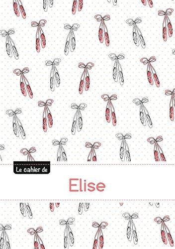 Le cahier d'Elise - Blanc, 96p, A5 - Ballerine