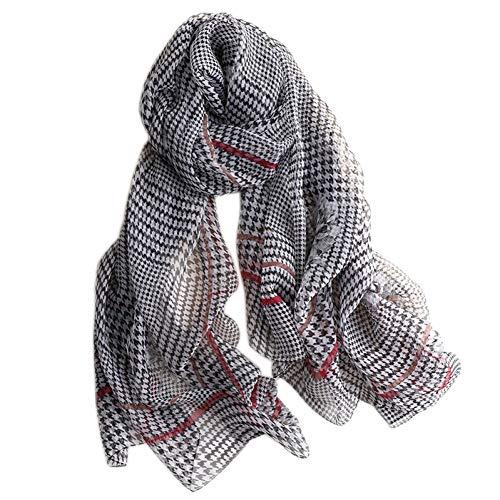 MYTJG Lady Schal Autumn Big Scarf Damen Seidenschal Schal und gewickelt Damen Soft Print Kopftuch