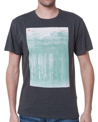 Loreak Mendian - T-Shirt Männer Grau Neck - Color: Grau, Size: L