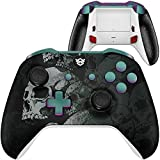 HexGaming Blade HEX Controller 2 Mappable Paddles & Interchangeable Thumbsticks & Flashshot for Xbox Series X/S, Xbox Elite Controller PC Wireless FPS Esports Gamepad - Lonely Skull
