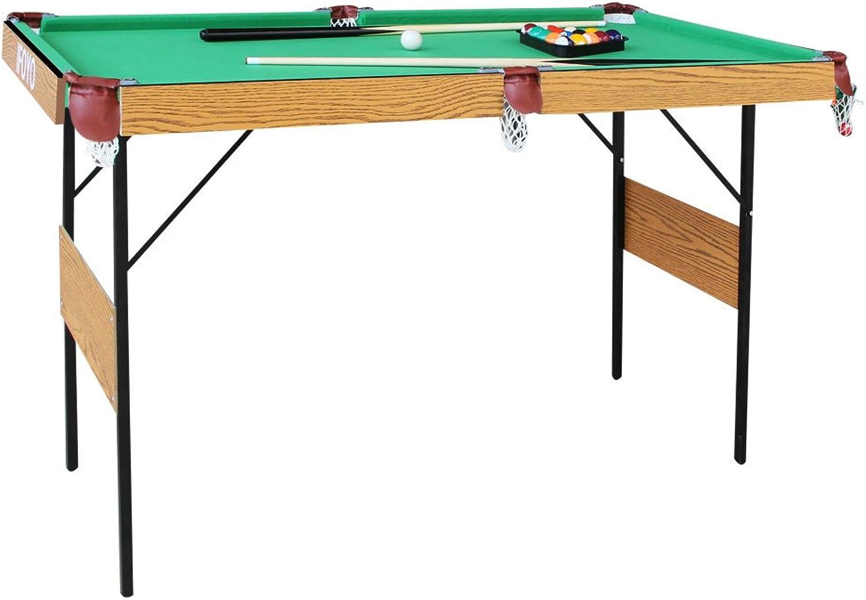 AIPINQI Billardtisch, 139,7 cm, zusammenklappbar, Billardtisch für Kinder und Erwachsene mit allem Zubehr im Lieferumfang enthalten