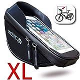 WESTIC LT-19 Lenkertaschen für Fahrrad Fahrradtasche Wasserdicht Handyhalterung Handyhalter Handytasche bis 6,6