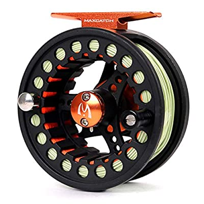 MAXIMUMCATCH Maxcatch ECO Fly Reel Large Arbor with Diecast Aluminum Body Fly Fishing Reel(3/4wt 5/6wt 7/8wt)
