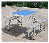 YLJY Mesas y sillas Plegables. Mesa Plegable al Aire Libre Jardín Mesa de...
