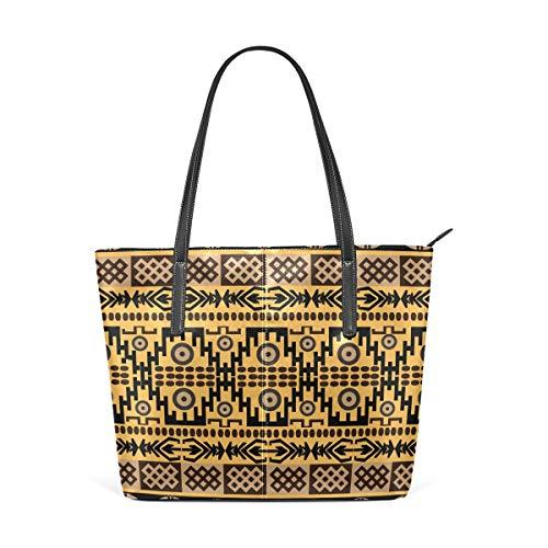 FANTAZIO Sac fourre-tout en cuir Texture tapis africain