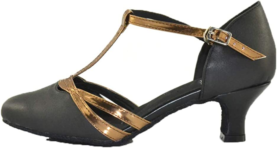 WHL.LL Des Femmes Type T Chaussures De Danse Latine Talon Moyen Confortable Fond Mou Chaussures De Danse Modernes Talon Haut Chaussures Simples L'amitié voitureré Chaussures De Danse