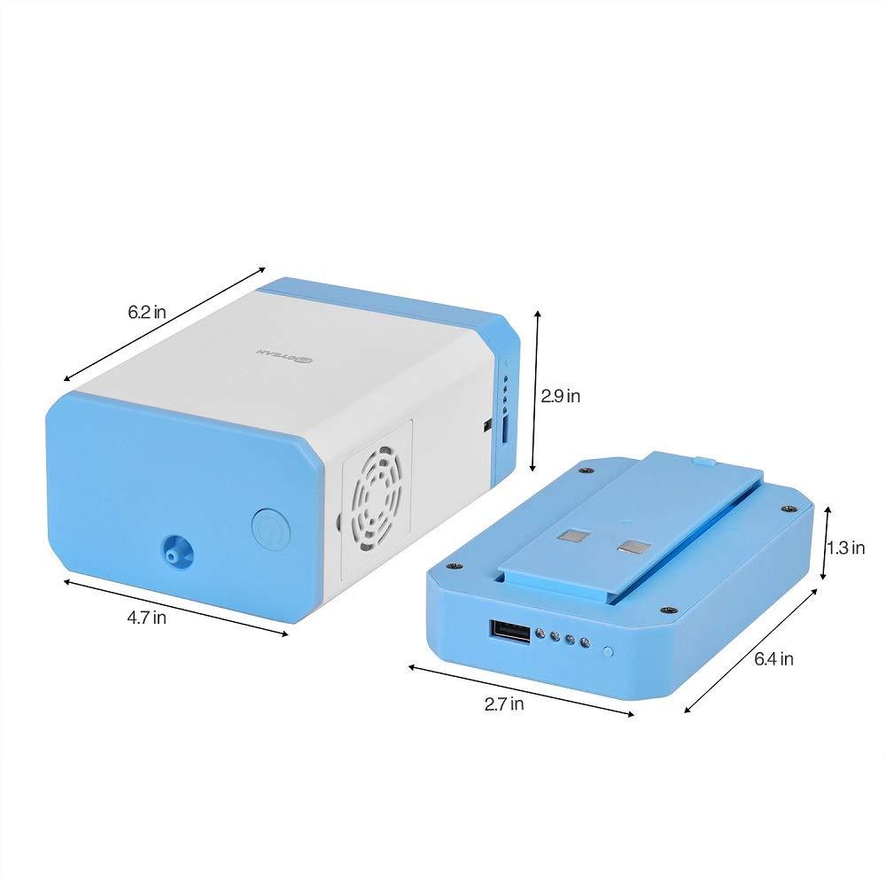Huapa Generador De Oxígeno Concentrador De Oxígeno Portátil Purificador 3L/min con Mochila 29% (± 1)(con Batería ...