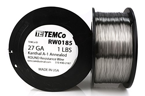 TEMCo Kanthal A1 wire 27 Gauge Resistance AWG A-1 ga