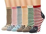 5-6 Pares Calcetines de Algodón para Mujeres Colores Mezclados...