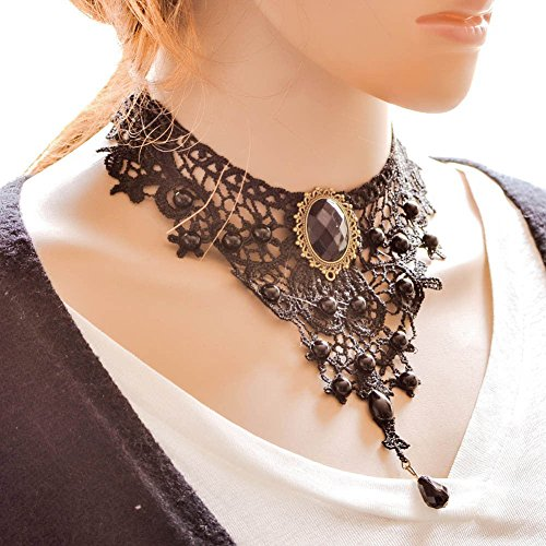 Hosaire 15 Gargantilla Choker Collares De Estilo Europeo Elástico Terciopelo Classic Adhesivo de Gótico Encaje Gargantilla Collares