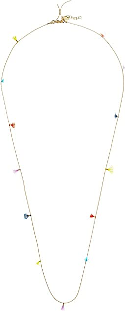 Lilu Chain Necklace with Multicolor Tassels