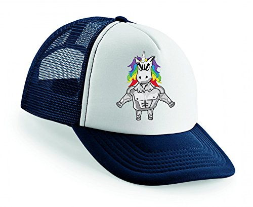 Snapback Zeichen- Mann- Regenbogen Haar- Sprites- Einhorn Unisex Baseballmütze Trucker Mützen Base Caps