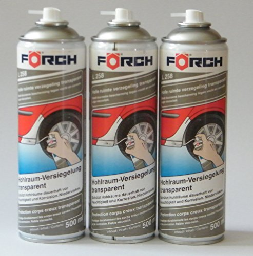 HOHLRAUMVERSIEGELUNG Sparpack ! 3 x 500ml Förch Hohlraum-Versiegelungs-Wax-Spray L258, transparent