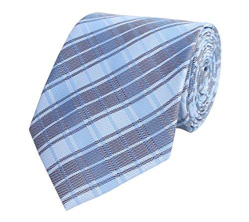 Fabio Farini Fabio Farini Krawatte klassiche Breite mehrere Farben zur Auswahl (ohne Geschenkverpackung, blau kariert)