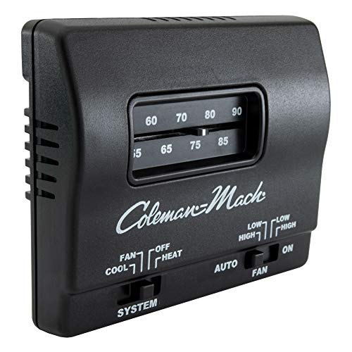 RV Thermostat in Black | Direct Replacement for Coleman Mach 7330F3852