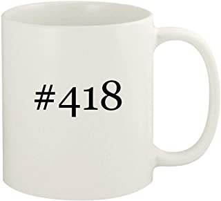 #418-11oz Hashtag Ceramic White Coffee Mug Cup, White