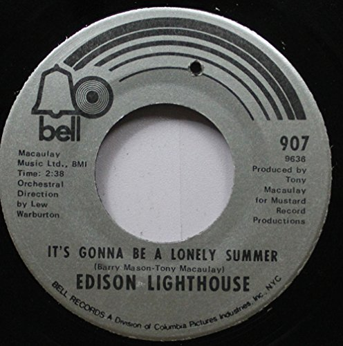 EDISON LIGHTHOUSE 45 RPM IT''S GONNA BE A LONELY SUMMER / SHE...