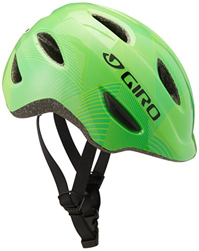 Giro Scamp Youth Recreational Bike Cycling Helmet - Small (49-53 cm), Green/Lime Lines (2020)