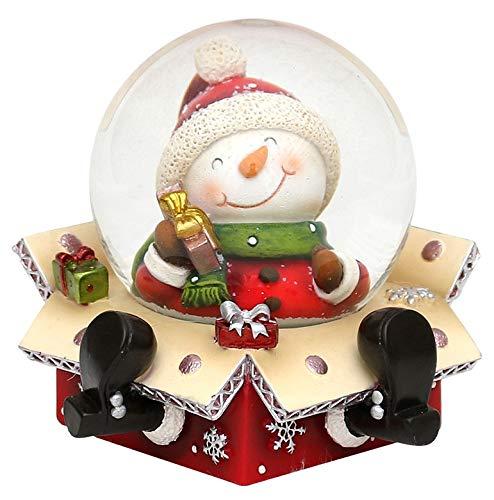 Bola de nieve original y divertida, tamaño aproximado:6,5x 6cm; 4,5cm de diámetro, Muñeco de nieve, Ø 6,5 cm