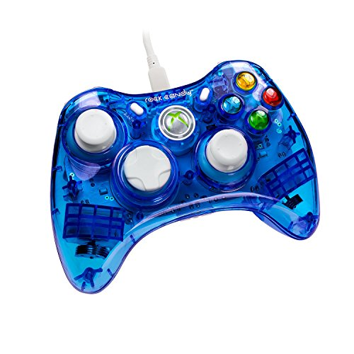 PDP - Mando Con Cable Rock Candy, Licenciado, Color Azul (Xbox 360)