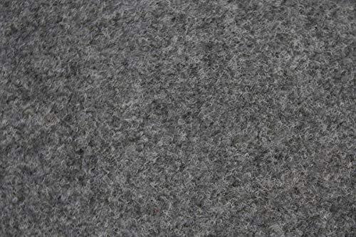 Rasenteppich Kunstrasen Premium hellgrau grau weich Meterware mit Drainage-Noppen, wasserdurchlässig (200x350 cm)
